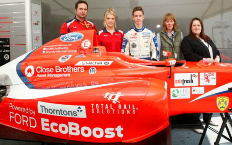 Thorntons sets young racing driver on the track to stardom