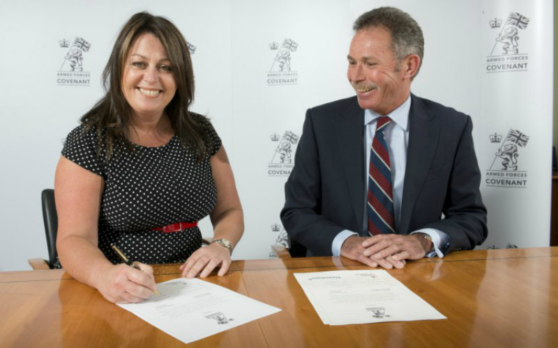 Thorntons Supports Armed Forces Covenant