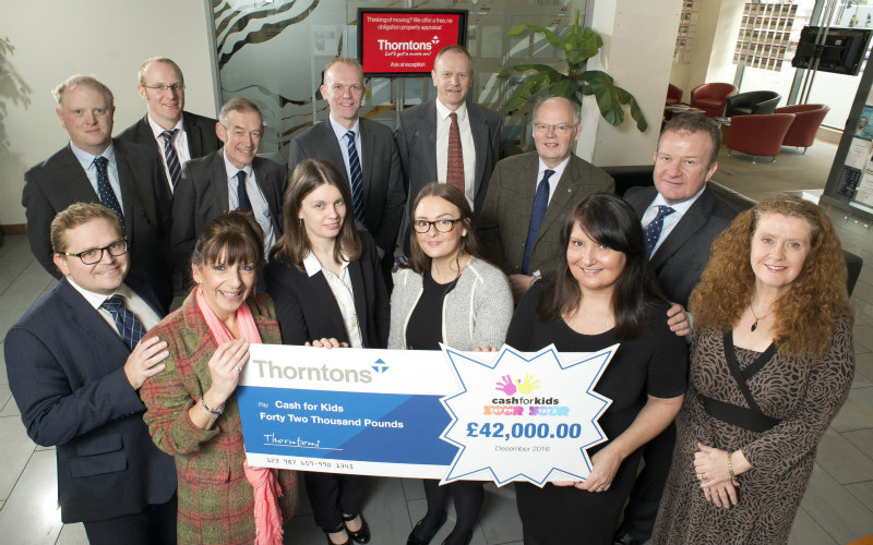 Thorntons' fundraising drive raises thousands for childrens' charity