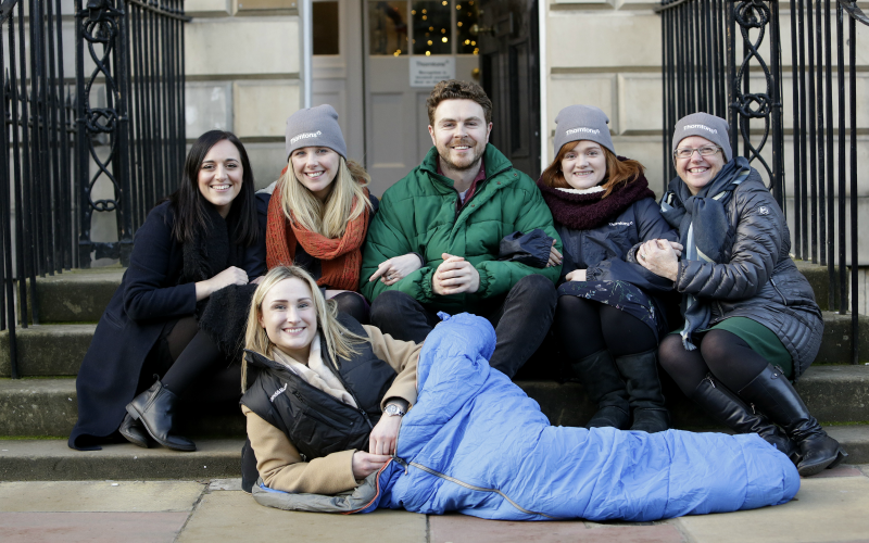 Edinburgh ladies lay down the law for charity night under the stars