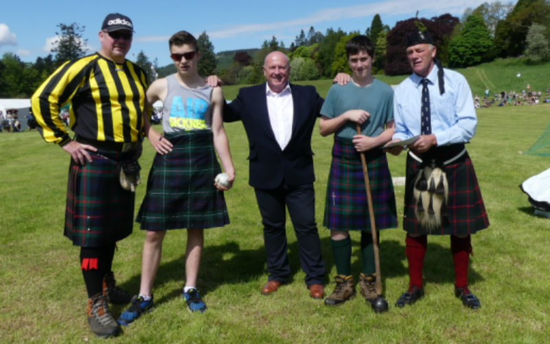 Thorntons provides vital backing for Perthshire Highland Games