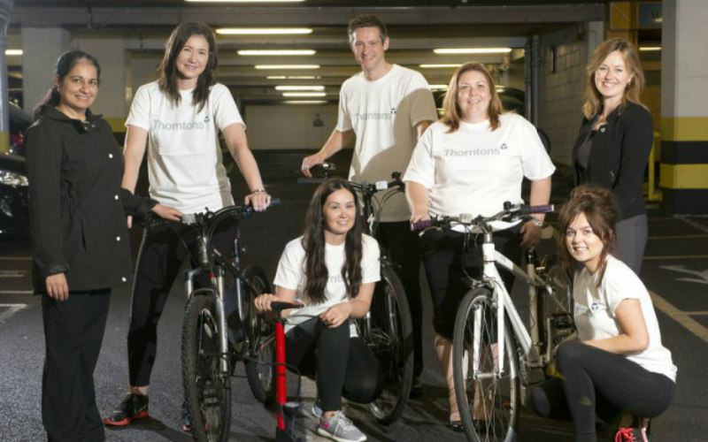 Thorntons Gear up for Cycle Challenge