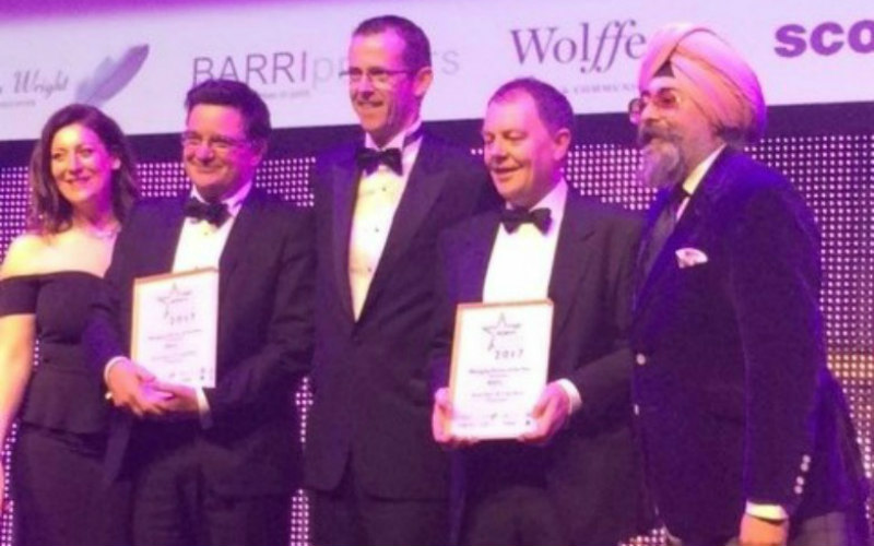 Success for Thorntons as its Managing Partners win major award at Scottish Legal Awards