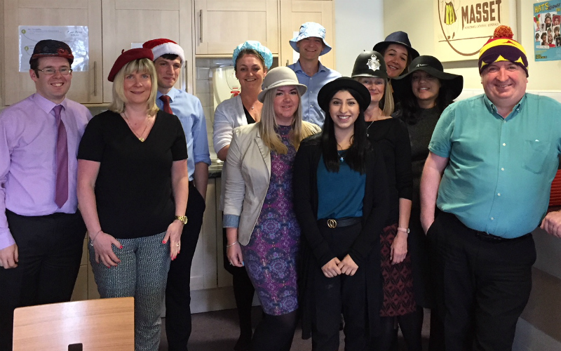 Thorntons Personal Injury team support Hats for Headway