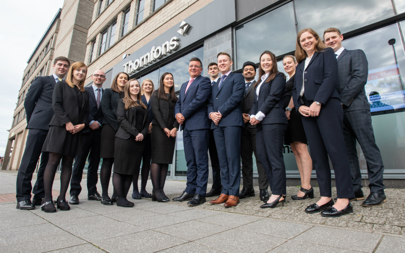 Fourteen trainees start their legal career with Thorntons